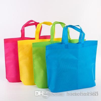 Bolso de las mujeres de tela Compras plegables Bolsas reutilizables bolsas de asas Tela Hombro no tejido 36 * Bolsas de 45 cm de comestibles Unisex grande Eco Ganbu