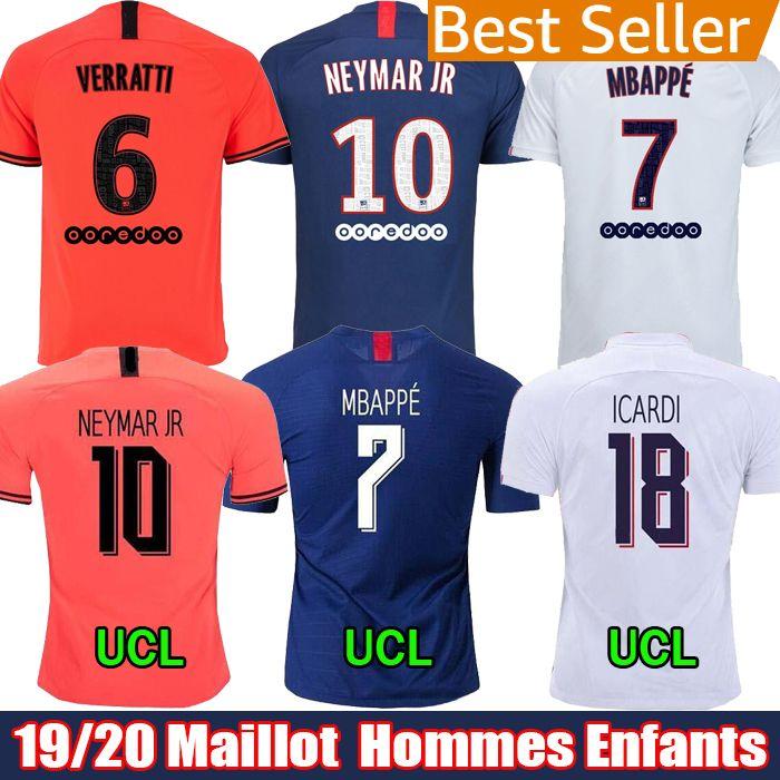 2019 2020 PSG soccer jerseys Maillots de football kit 19 20 Paris MBAPPE ICARDI MARQUINHOS football camisetas de futbol shirt men & kids set