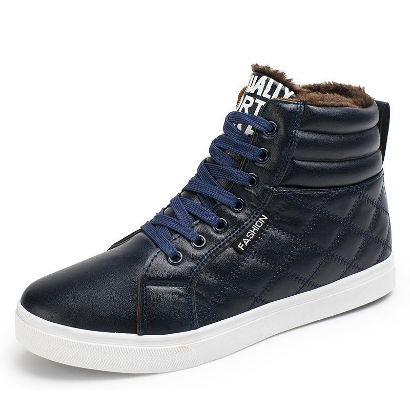 de los hombres Botas de invierno de los hombres de calentamiento a prueba de agua de lluvia botas zapatos nuevos hombres del tobillo cargador de la nieve