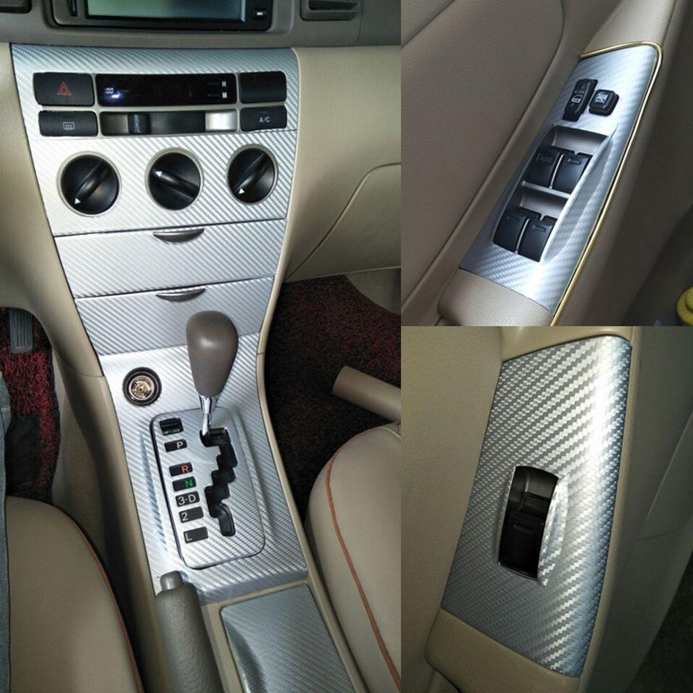 Toyota Corolla 2003-2015 Kendinden yapışkanlı Araba Etiketler 3D 5D Karbon Elyaf Vinil Araç çıkartmaları ve Çıkartmaları Araç Şekillendirici Aksesuarları