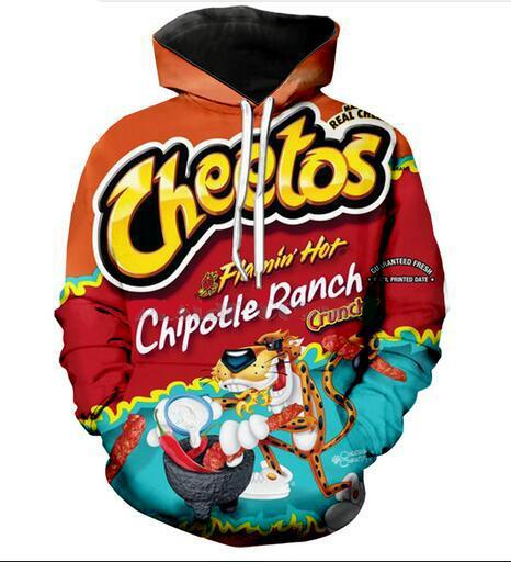 Prime 2019 Hot Fashion Men Women Harajuku Style Hot Cheetos Pocket Hooded Hoodies 3D Print Unisex Tops Wholesale And Retail Rw0105 From Fashion1688Store Gamerscity Chair Design For Home Gamerscityorg