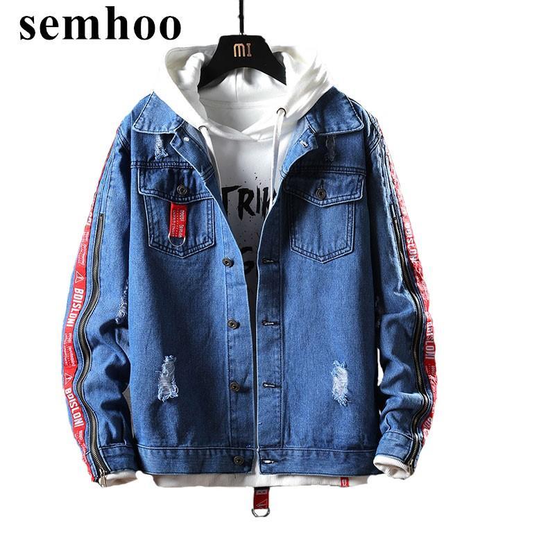 nova primavera 2020 jeans casual casaco jaqueta de mangas compridas topos Moda versão dos homens coreanos