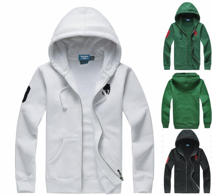 2018 New Herren Big Horse Polo Hoodies und Sweatshirts Herbst Winter lässig mit Kapuze Sportjacke Herren Fleece Hoodies