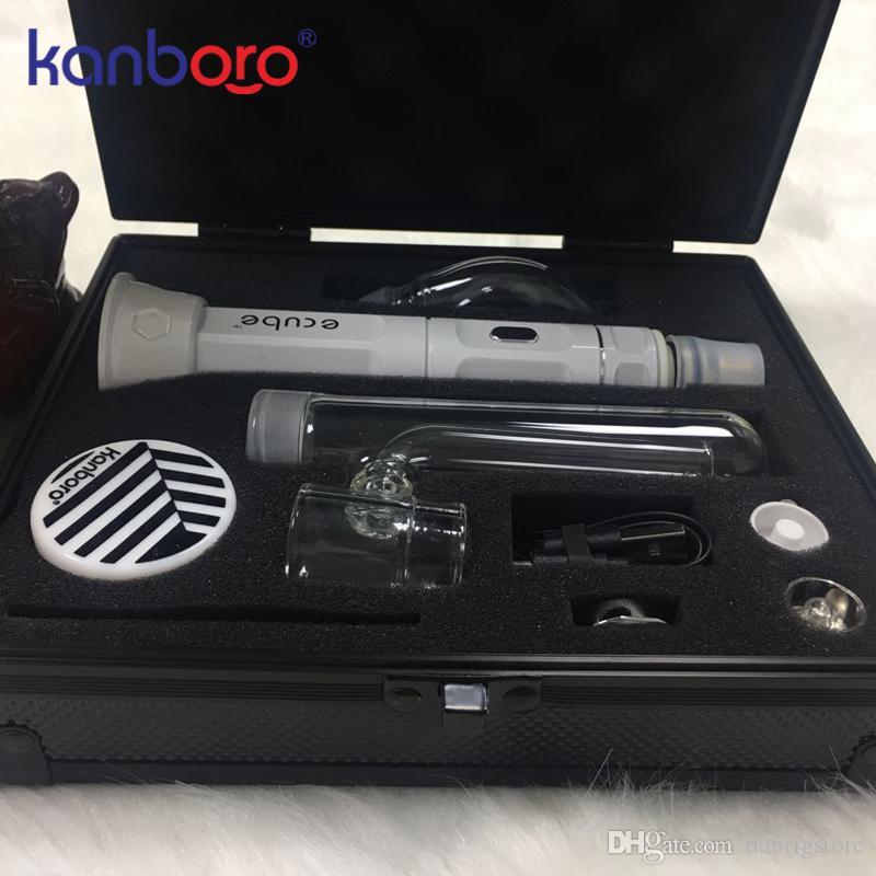 porte DH vente chaude vaporiseur d'herbe sèche de la limande kit stylo de cire de haute qualité Kanboro eCube kit principal avec affichage LED