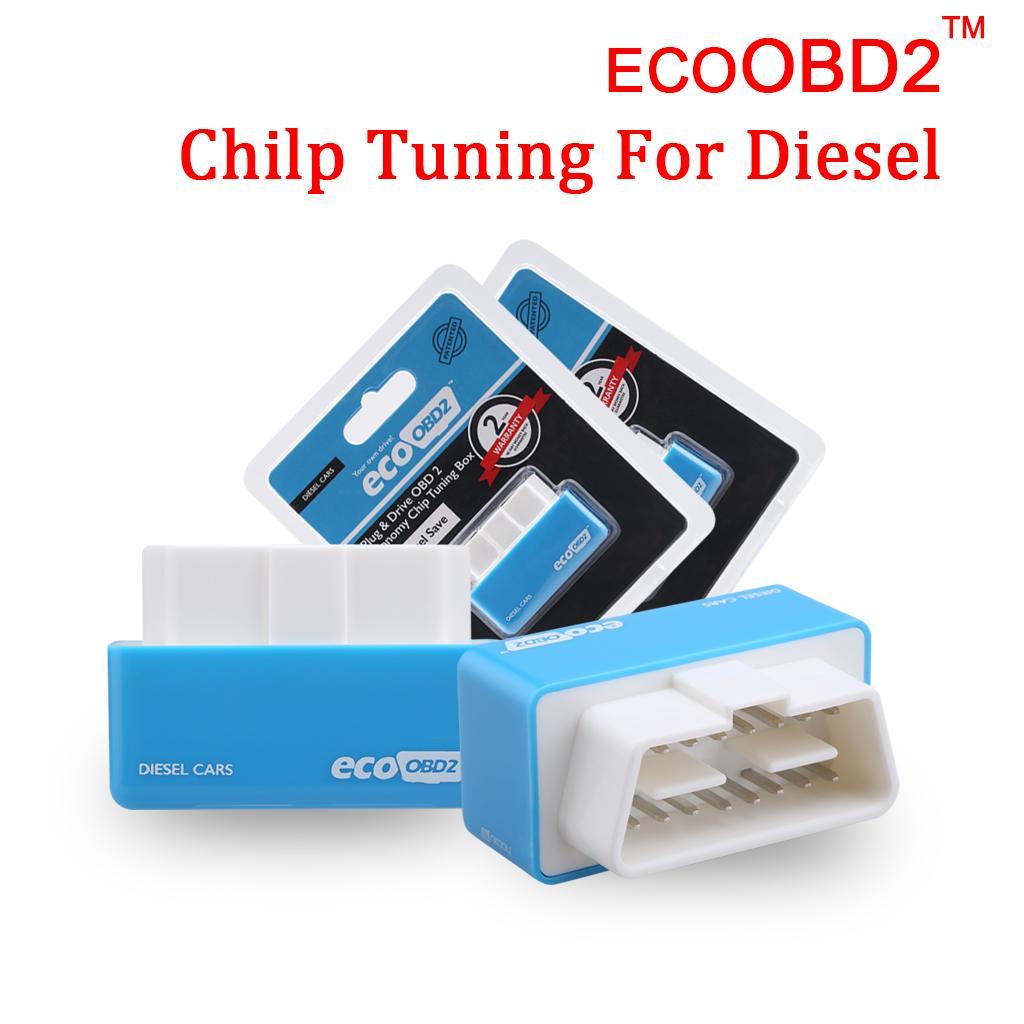 Chiaro Stock Mini Excelvan blu Plug and Drive Eco OBD2 Interfaccia Economia Chip tuning EcoOBD2 per Diesel Car Fuel Salva