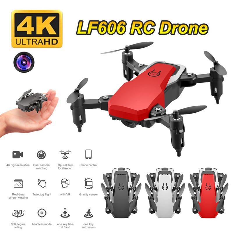 LF606 WiFi FPV складной RC Drone с 5.0MP 4K HD HD-камера Высота HOLD 3D Flips Refless Mode RC вертолет самолета самолета