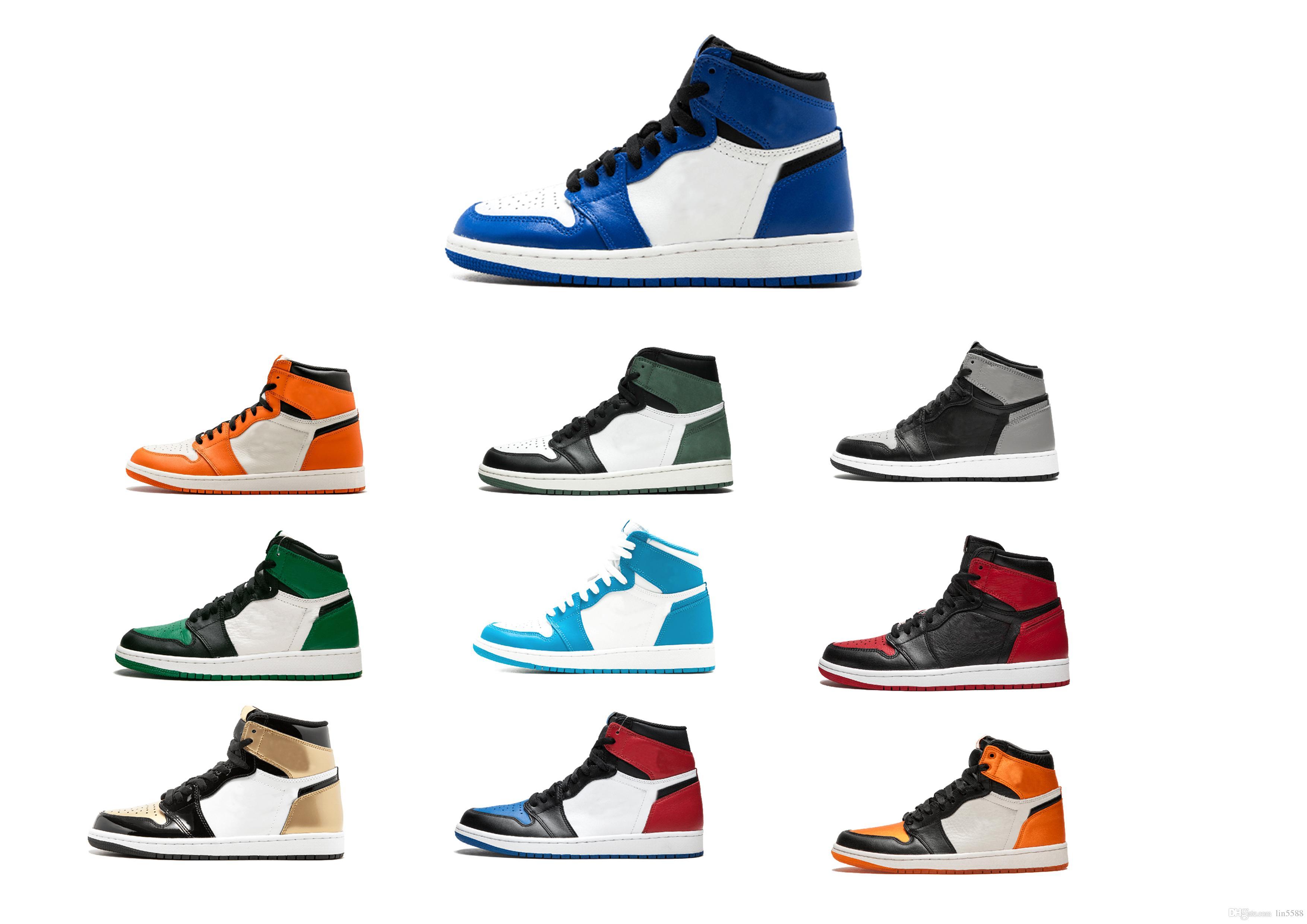 Acheter 2019 NIKE Nouveau Jumpman 1 Basketball Chaussures 1S Athlétisme Baskets Chaussure De Course Pour Femmes Sports Torche Lièvre Jeu Royal Pine