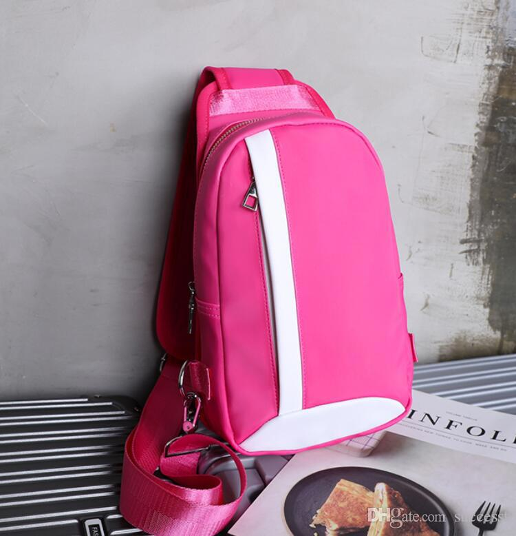 2019 Hot sale Classic Fashion Lady's Rose red Slant Backpack girl pu Cross Body bag Woman Chest pack Student shoulder bag 4 colors