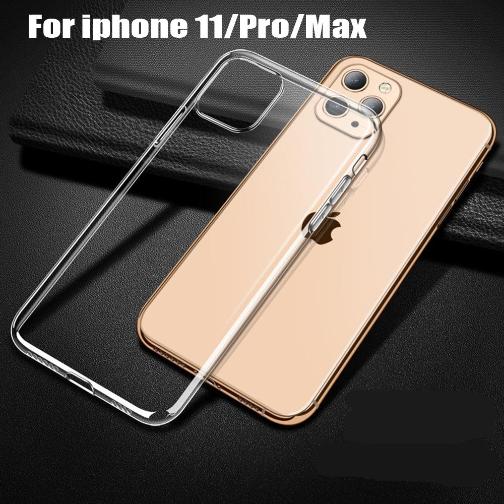 Soft Clear Case For iPhone 11 Pro Max X XS XR 7 8 6s Plus Silicone TPU 5s Transparent Phone Cover on iPhone 11 Pro Max Cases
