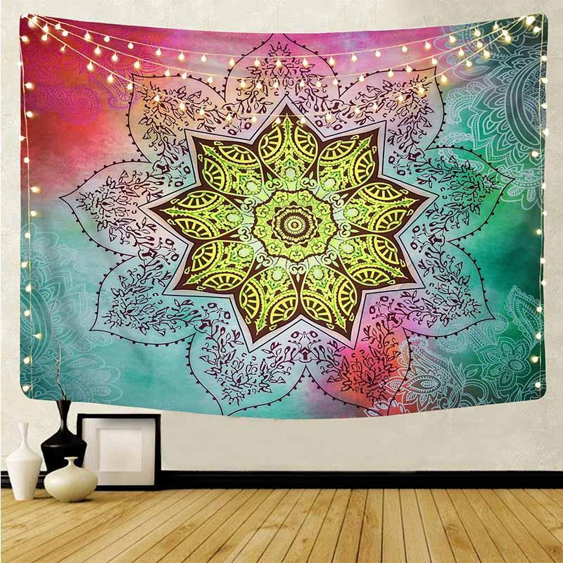Mandala Tapestry Wall Hanging Bohe Tapestries Trippy Tapestry Witchcraft Wall Carpet Mandala Blanket