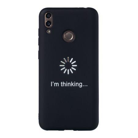 Huawei P30 için Yeni Kişilik Çubuk Şekil At Yüz Aşk Mat Siyah TPU Telefon Koruyucu Kabuk Bırak