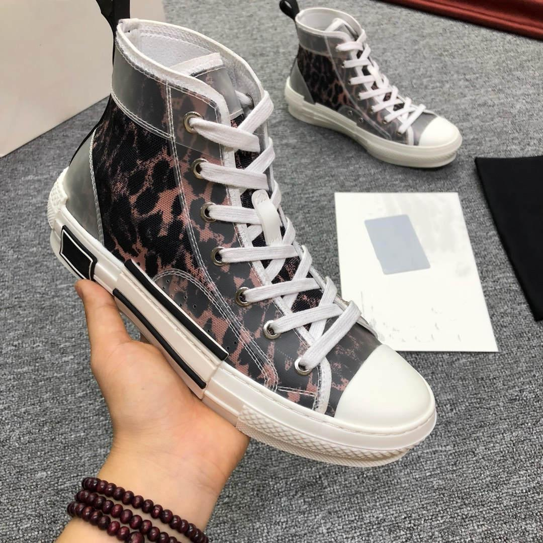 Neue Qualitäts-Blumen Technische Leinwand B23 High Top Oblique-Freizeitschuhe der Männer Luxus-Designer-Schuhe Schuhe der Frauen Art und Weise beiläufige 36-45