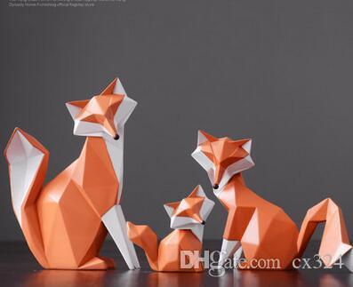 Modern minimalist fox ornaments living room TV cabinet wine cabinet decorations display wedding gifts