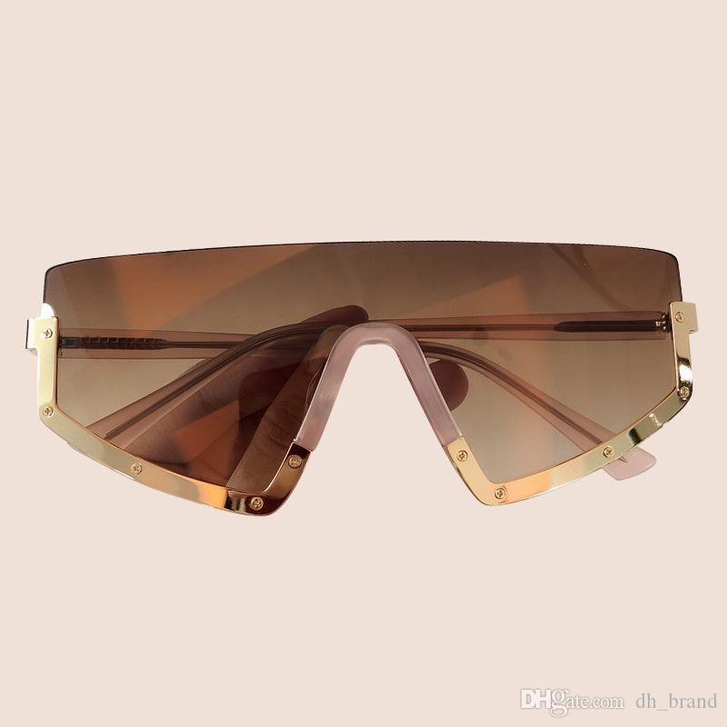 Parça Gözlük UV400 Marka Bir Kadın Güneş Gözlüğü Boy Shades Güneş Gözlüğü Tasarımcı Erkekler Z1193 GXKKN
