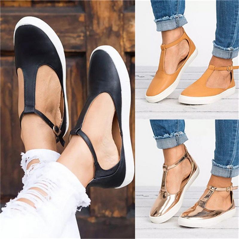 2019 sapatos de caminhada Verão oco respirável sapatos de caminhada Moda feminina casual ao ar livre da rua Calçado Feminino Flats