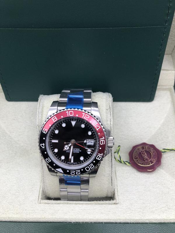 Mens Sapphire montre de plongée automatique 2813 Gmt II Montres Hommes Sport Batman Pepsi Maître 116719 BLRO perpétuel 116710 Montres-bracelets superlatif
