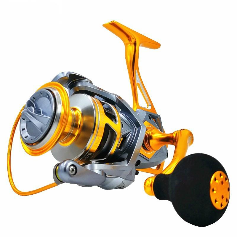 Mavlos Saltwater Jigging Reel 10BB Speed Ratio 5.2: 1 Metal Shell Max Drag 20kg Sea Water Fishing Reel