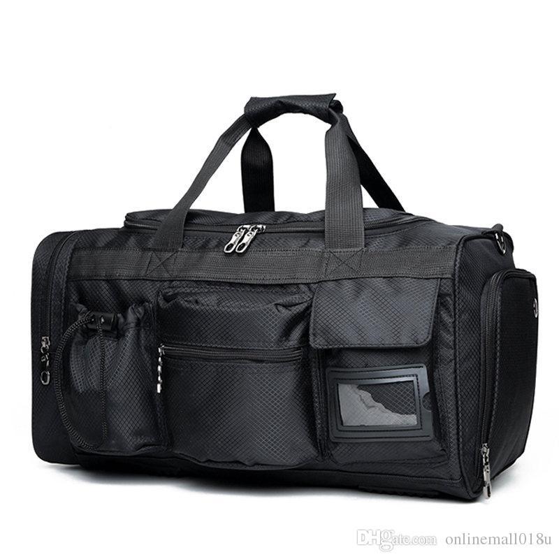Hommes Week-end Black Duffle Nylon Bagages Sacs à bagages Couleur Sac à main Étanche Tote Etanches Grand Big Bandoulière Sac Solid HBBMQ