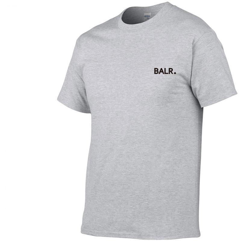 2019 New BALR Einfarbig T-Shirt der Männer Schwarzweiß 100% Baumwolle T-Shirts Sommer Skateboard T Boy Skate-T-Shirt Tops