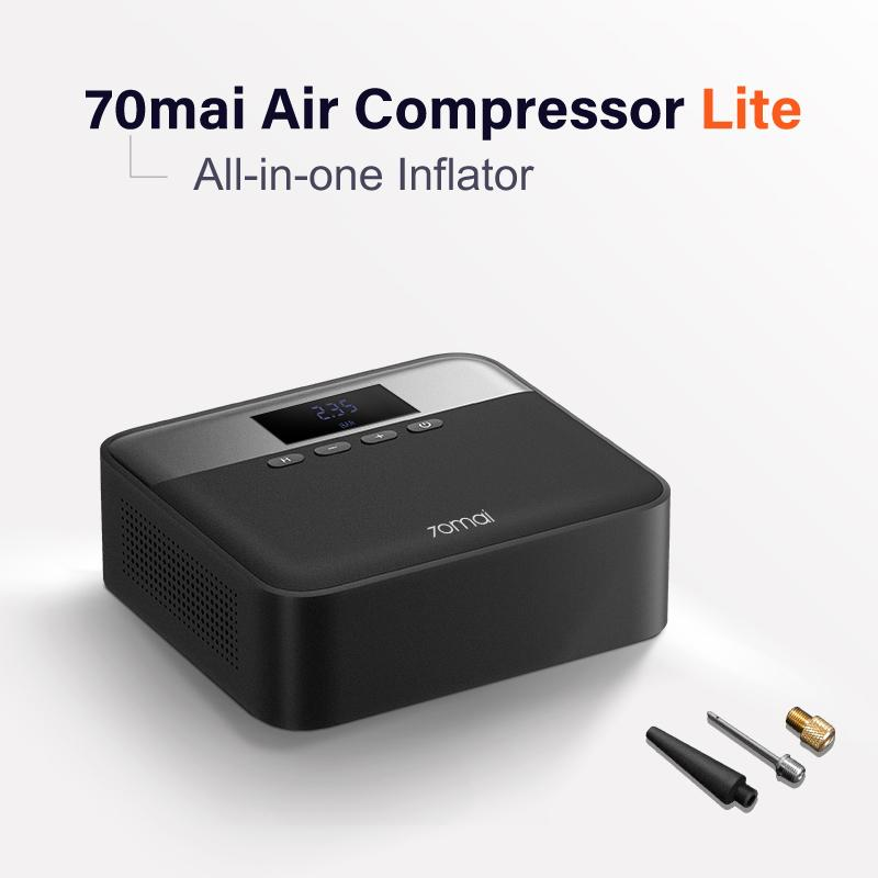 Xiaomiyoupin 70mai 공기 압축기 라이트 12V 70mai Protable 전기 자동차 공기 펌프 미니 압축기 타이어 팽창기 자동차 타이어 Pumb