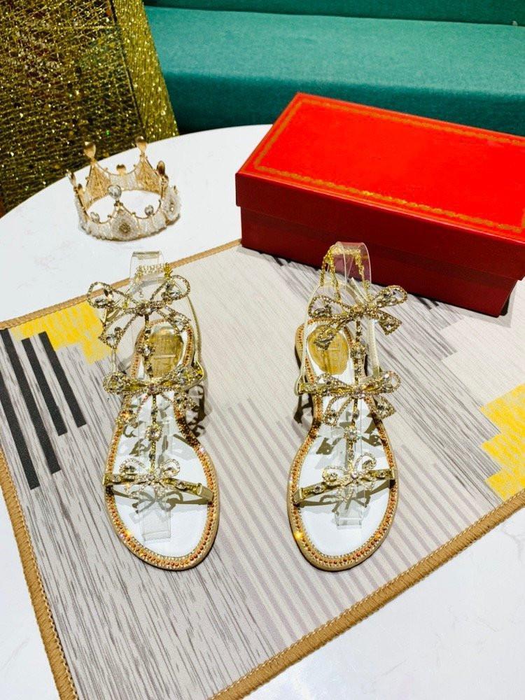2020 yaz yeni stil üst seviye kalite mizaç kadın 24K Köpüklü taklidi tek ayakkabı sandalet 105563