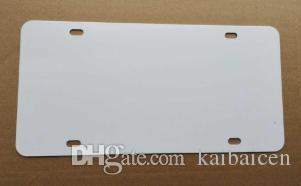 Yeni Stil Süblimasyon Boş Metal Araba Plaka Ürün Ürün Sıcak Kalp Transfer Baskı DIY Özel Sarf Malzemeleri Etiketler 29.5 * 14.5 cm