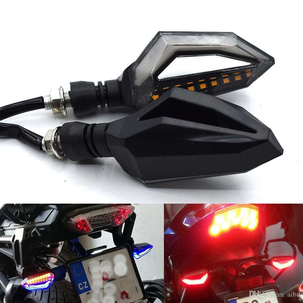 가와사키 ZX6R ZX636 ZX10R Z1000 Z750R Z1000SX NINJA 1000 유니버셜 자전거 턴 시그널 라이트 유수의 LED 플래시