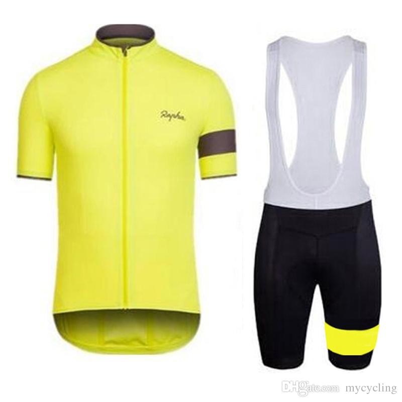 RAPHA Team men cycling jersey Set 2019 Road bike clothing bicycle maillot summer breathable racing Wear sports uniform Y051701