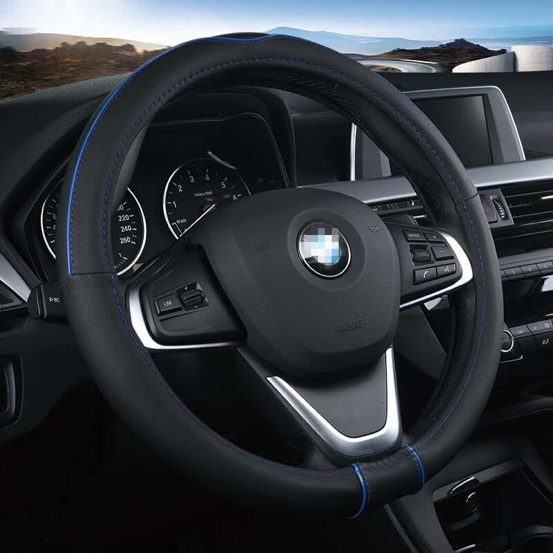 "New nonslip Warm Soft Sport Auto Car Steering Wheel Cover 38CM 15/"" BLACK"