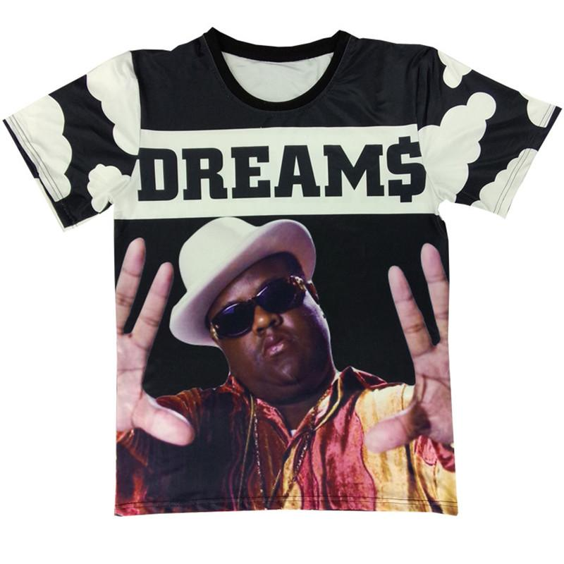 Newest Men/Womens Funny Rapper Tupac 2pac Notorious B.I.G. Biggie Smalls 3D Print T Shirt Summer Tops Plus Size Hip Hop Style Outfit U1249