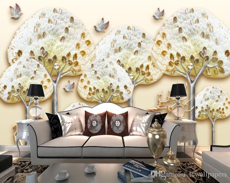 Personalizado 3D foto papel pintado Reno bosque árbol grande Sika ciervos pared Mural fondos de pantalla para sala de estar dormitorio decoración del hogar