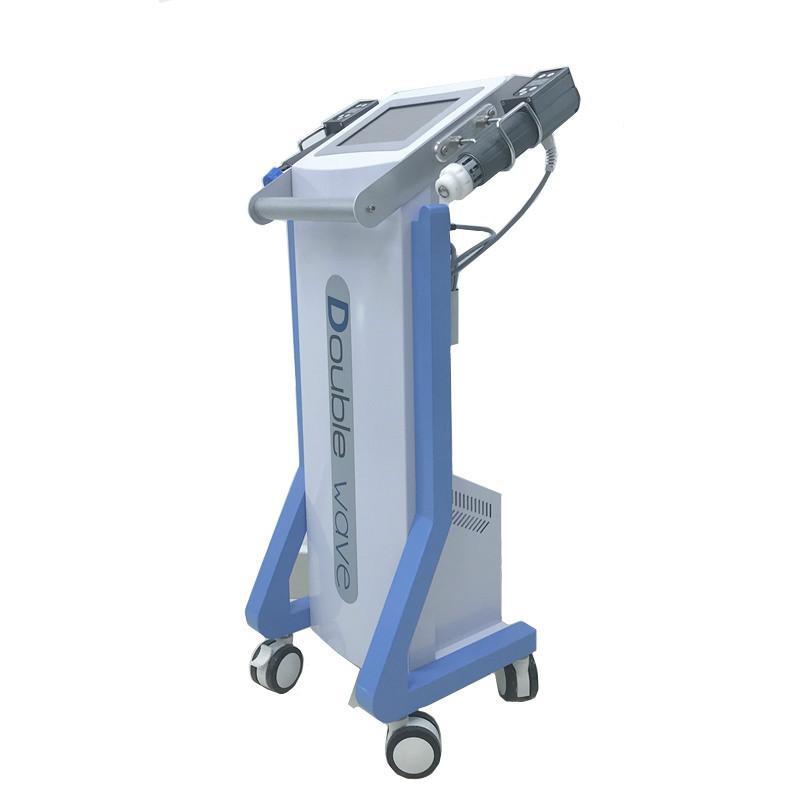 2 alças terapia Fisioterapia inquietação para o alívio da dor / máquina de terapia por ondas de choque acústico para o homem tratamento Ed