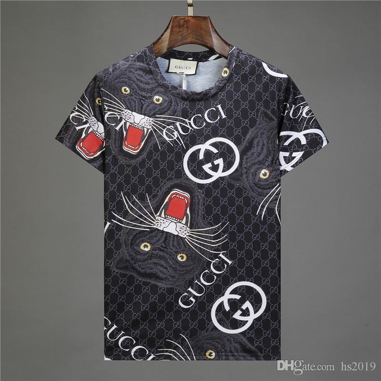 남자 짧은 소매 t- 셔츠 봄과 여름 조수 브랜드 만화 두개골 기관차 인쇄 남자 t- 셔츠 디자이너 t- 셔츠 6552