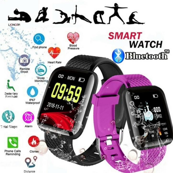 Smart orologi 116 Inoltre ID116 D13 orologi frequenza cardiaca Wristband della vigilanza di sport intelligente banda impermeabile Smartwatch Android Con confezione di vendita