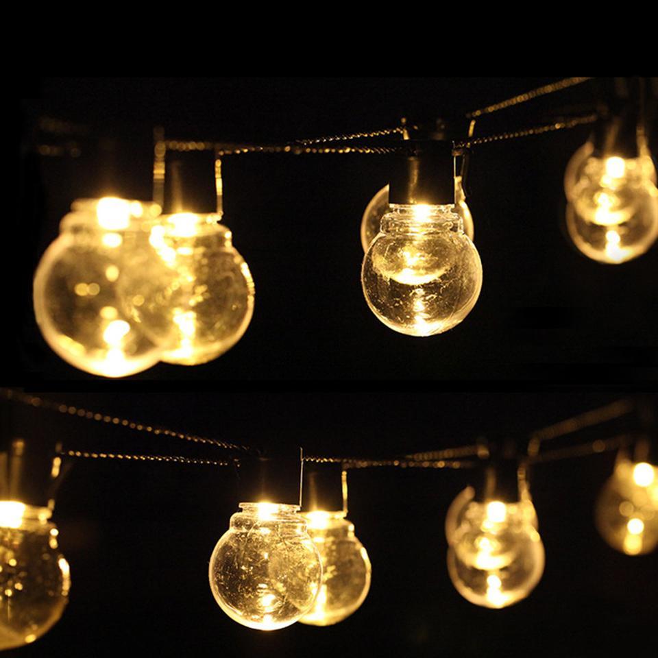 6m 20 Led Cordas casamento fada Natal Luz Jardim Decoração Led Globo lâmpada LED Luzes Cordas Eu Us Outdoor Partido Garland