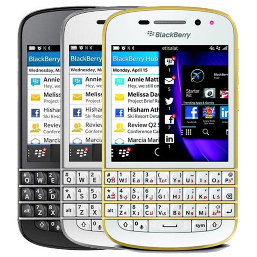 Recuperado Original Blackberry Q10 3.1 polegadas Dual Core 2GB RAM 16GB ROM 8.0MP Camera Teclado Qwerty 1pcs Desbloqueado Smart Mobile Telefone DHL