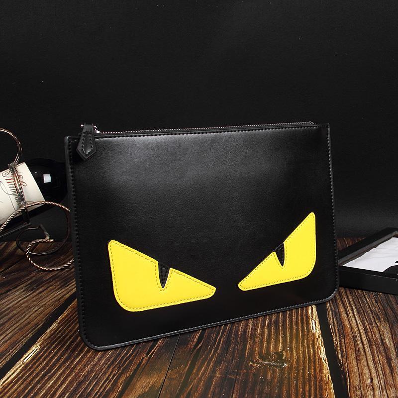 Borse di lusso Fashion Designer borse borse in pelle spalla del progettista-2019 uomini Designer Holder raccoglitore della carta del fumetto frizione Borse Nero