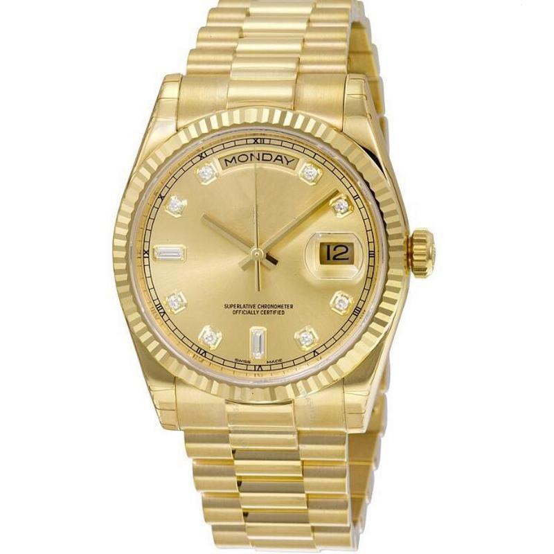 أعلى V3 DAY DATE رجل ساعة الماس الياقوت زجاج الميكانيكية 41MM الرجال الساعات الفولاذ المقاوم للصدأ ذكر المعصم