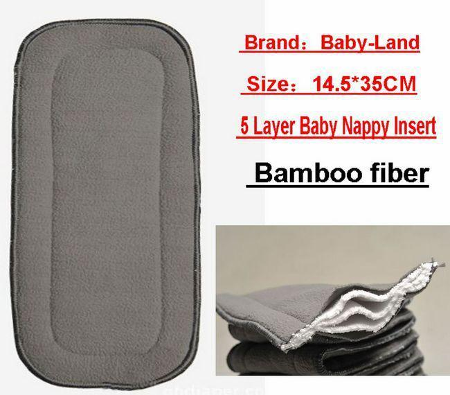 Bamboo Fiber 5 -Layer Nappy Liners Baby Cloth Diaper Inserts Pads Liner For Cloth Nappies Liners 50pc