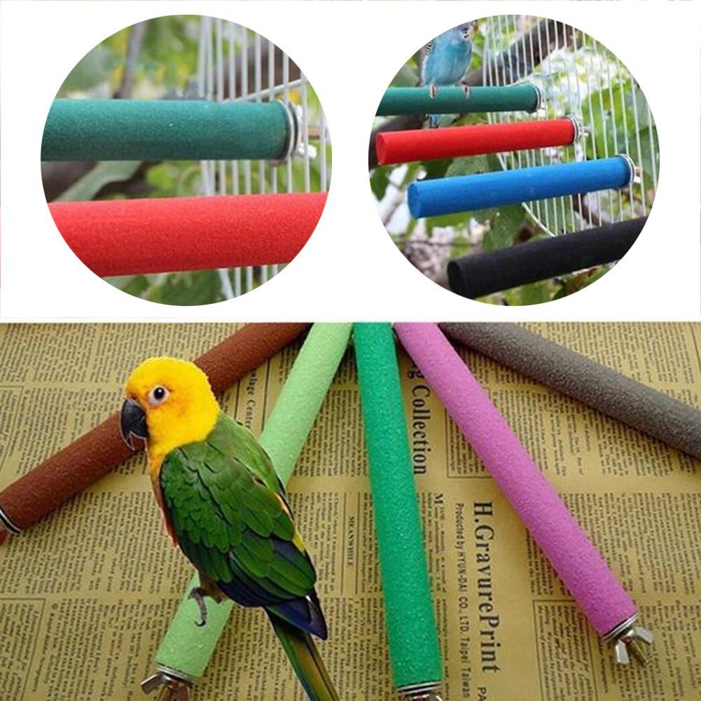 Materiali 1P Parrot con divertenti funzionale Uccello Carnevale Parrot tamburo giocattolo Frosted pietra molare Rod Giocattoli Legno Claw Bar uccelli