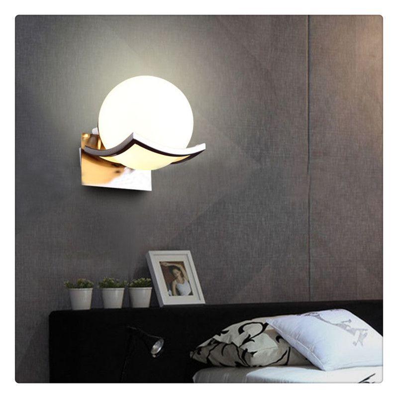 Esférica lâmpada de parede de vidro estudo quarto corredor de cabeceira parede criativo luz sem lâmpada bastante confortável e seguro