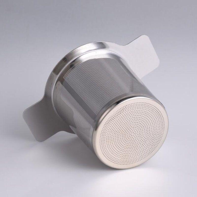 Filtro de acero de hoja de té caliente Vaso de malla de Infuser del té del tamiz del té de la tetera de acero suelta Cocina Accesorios reutilizable