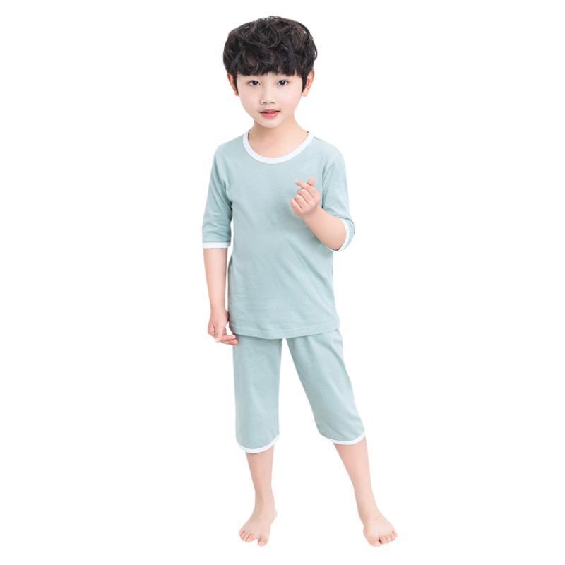 Popular Girls Short Sleeve and Crop Pant Pajama Sleepwear Set