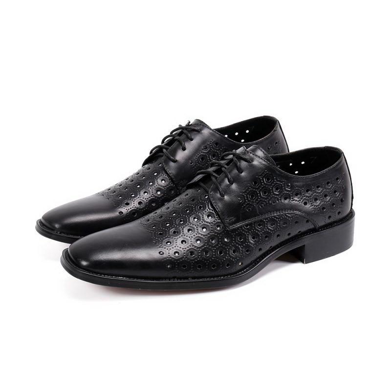 Heiße verkaufende neue Männer schwarze formale Schuhe Art und Weise Sommer-Ausschnitt Breathable schnüren sich oben Trending Leder-Schuhe für Mann Eleganter Schuh Büro SL-06