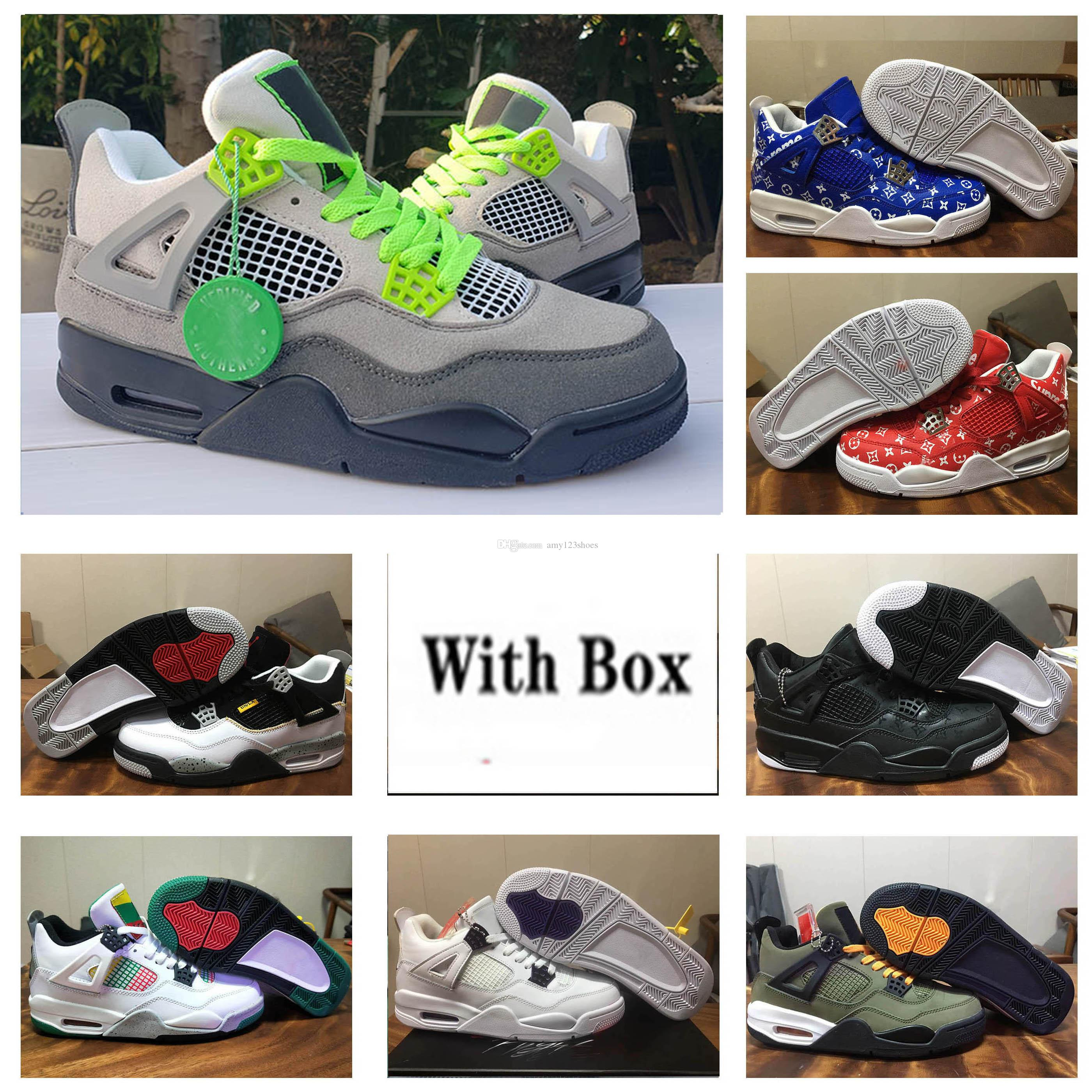 4 OG black cement 4 WMNS Do The Right Thing High Quality 4 WNTR Moral Blue Pine Green Black Cat Men Basket Shoes 4s Neon Sneakers.