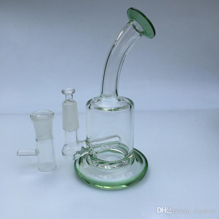 Стекло Бонг Recycler нефтяная вышка воск водопровод пьянящий бонги Dab инструмент трубы с чашей или кварцевый фейерверк perc барботер воск масло мензурка