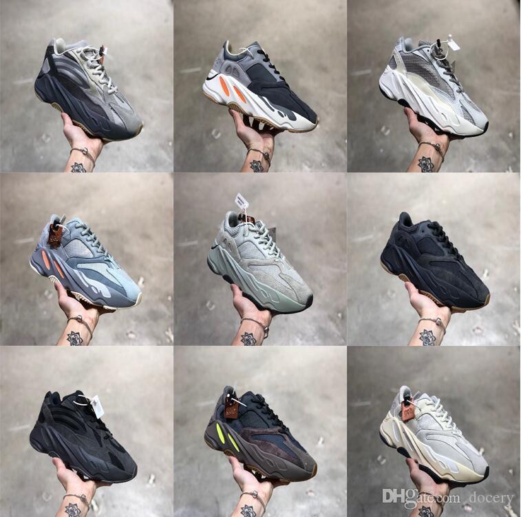 2019 zapatos corrientes de inercia 700 v2 Kanye West para hombre Tefra Sal analógicos 700 corredor de la onda de las mujeres zapatillas de deporte de Formadores Geode Utilidad Negro Vanta