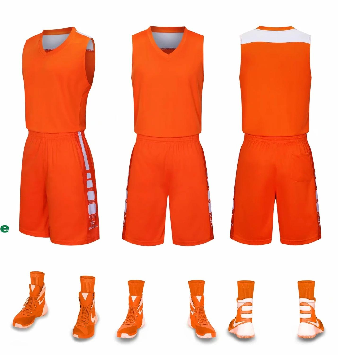 2019 New Blank Basketball jerseys printed logo Mens size S-XXL cheap price fast shipping good quality STARSPORT ORANGE SOG001AA12r