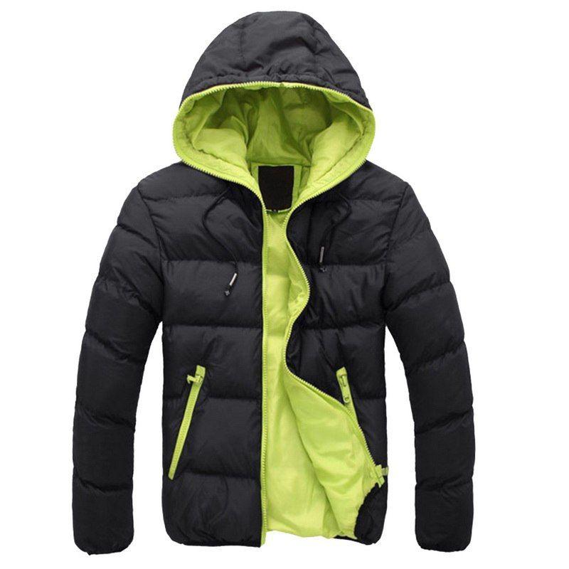 2020 inverno quente Doudoune Homme Plus Size Moda Sólidos Down Jacket Men Casual Zipper Parka Pluma Hombre com capuz Down Jacket
