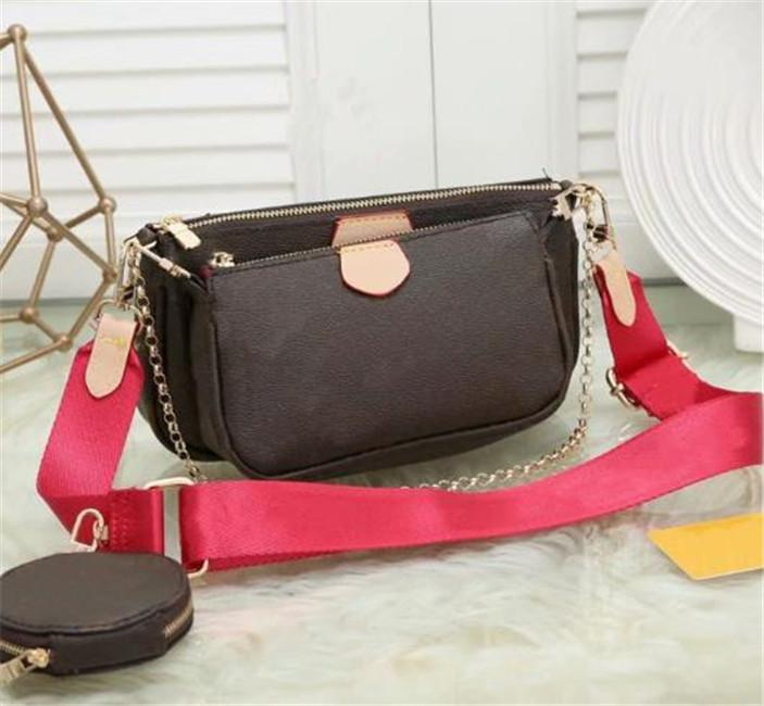 Sıcak satmak Kadın Omuz Çantası Zinciri Crossbody çanta tasarımcısı lüks çanta cüzdan Omuz Crossbody Çanta Bayan Cüzdanlar 3`lü